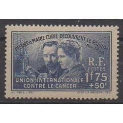 France - Poste - 1938 - No 402 - Sciences et Techniques - Neuf avec charnière