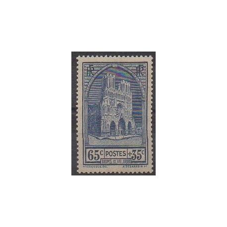 France - Poste - 1938 - No 399 - Églises