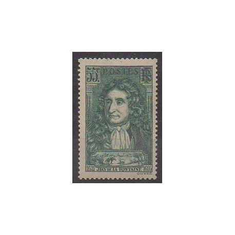 France - Poste - 1938 - No 397 - Littérature
