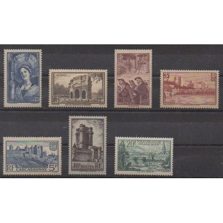 France - Poste - 1938 - No 388/394 - Neufs avec charnière
