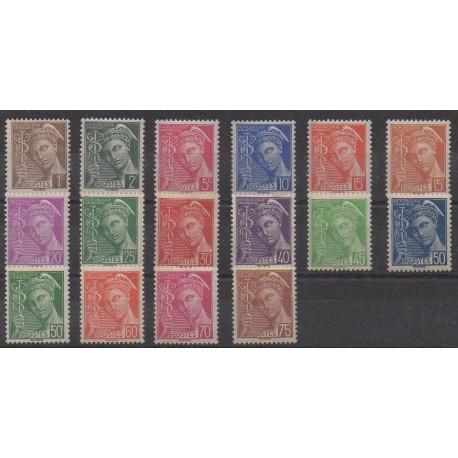 France - Poste - 1938 - No 404/416A - Neufs avec charnière