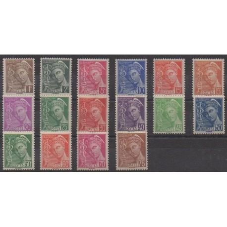 France - Poste - 1938 - No 404/416A