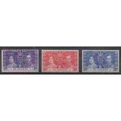 Saint-Vincent - 1937 - No 118/120 - Royauté - Principauté