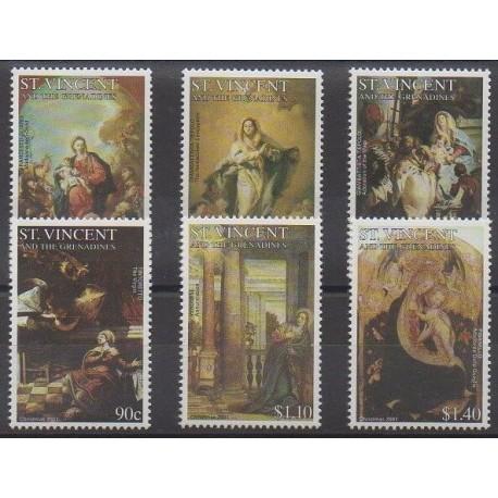 Saint-Vincent - 2001 - No 4312/4317 - Noël - Peinture