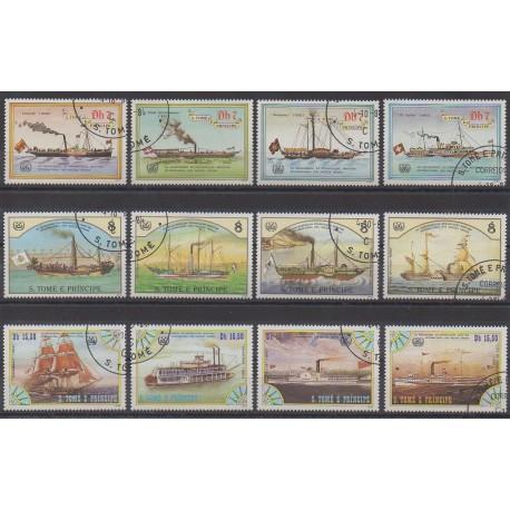 Saint-Thomas et Prince - 1984 - No 802/813 - Navigation - Oblitérés