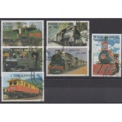 Saint-Thomas et Prince - 1995 - No 1245B/1245G - Chemins de fer - Oblitérés