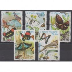 Saint-Thomas et Prince - 1989 - No 965/969 - Insectes - Oblitérés