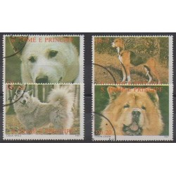 Saint Thomas and Prince - 1987 - Nb 877/880 - Dogs - Used