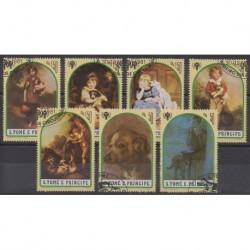Saint Thomas and Prince - 1981 - Nb 671/677 - Childhood - Paintings - Used