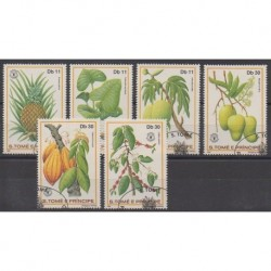 Saint Thomas and Prince - 1981 - Nb 653/658 - Fruits or vegetables - Used