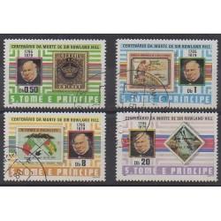 Saint Thomas and Prince - 1980 - Nb 590/593 - Stamps on stamps - Used