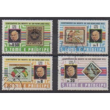 Saint-Thomas et Prince - 1980 - No 590/593 - Timbres sur timbres - Oblitérés