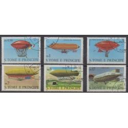 Saint Thomas and Prince - 1980 - Nb 578/583 - Hot-air balloons - Airships - Used