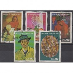 Saint Thomas and Prince - 1978 - Nb 493/497 - Paintings - Used