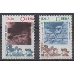 Italie - 2002 - No 2576/2577 - Cinéma