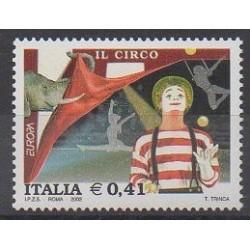 Italy - 2002 - Nb 2575 - Circus or magic - Europa