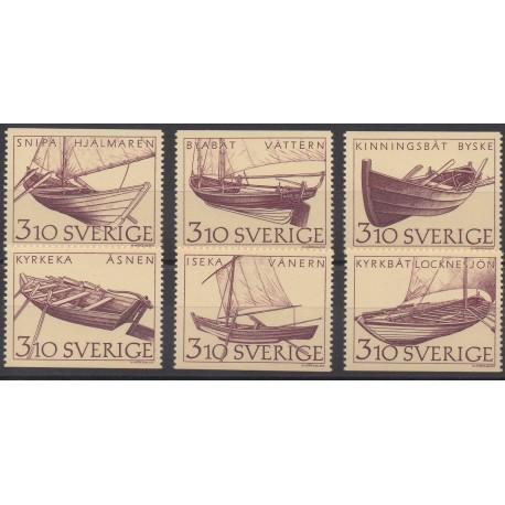Suède - 1988 - No 1449/1453 - Bateaux
