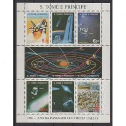 Saint Thomas and Prince - 1986 - Nb 831/834 - Astronomy