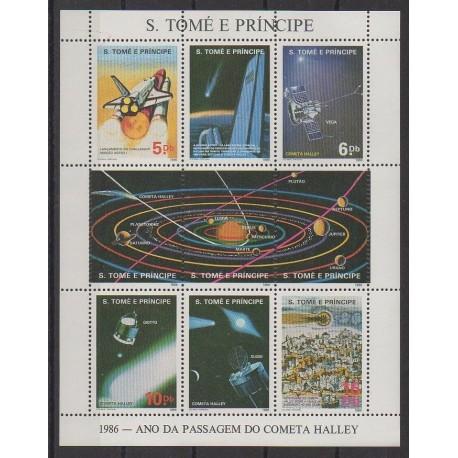 Saint-Thomas et Prince - 1986 - No 831/834 - Astronomie