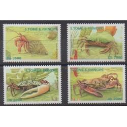 Saint Thomas and Prince - 2003 - Nb 1353/1356 - Sea life