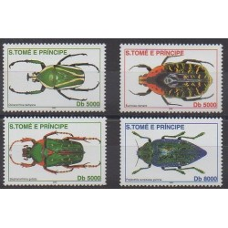 Saint Thomas and Prince - 2002 - Nb 1325/1328 - Insects