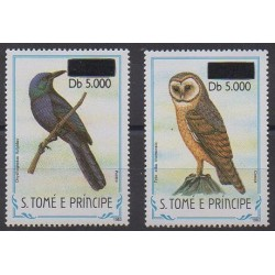 Saint Thomas and Prince - 2000 - Nb 1291Q/1291R - Birds