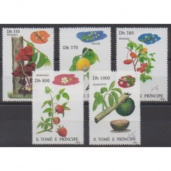 Saint Thomas and Prince - 1995 - Nb 1254/1258 - Fruits or vegetables