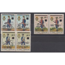 Saint Thomas and Prince - 1977 - Nb 457/462 - Military history - Postal Service