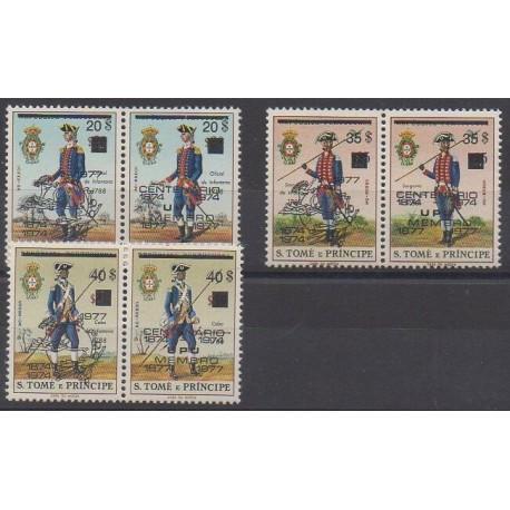 Saint-Thomas et Prince - 1977 - No 457/462 - Histoire militaire - Service postal