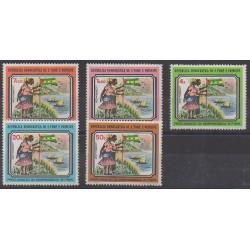 Saint Thomas and Prince - 1975 - Nb 422/426 - Various Historics Themes - Mint hinged
