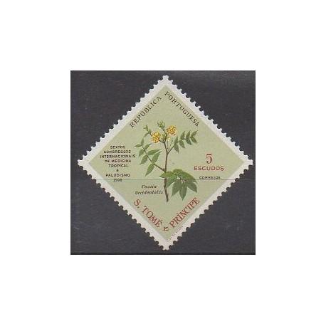 Saint-Thomas et Prince - 1958 - No 374 - Fleurs