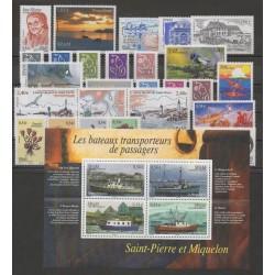 Saint-Pierre et Miquelon - Année complète - 2007 - No 882/910 - BF 12 - PA 87
