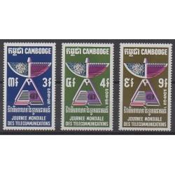 Cambodia - 1970 - Nb 235/237 - Telecommunications