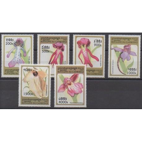 Cambodge - 1997 - No 1476/1481 - Orchidées