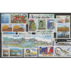 Saint-Pierre et Miquelon - Complete year - 2001 - Nb 737/757 - PA 81