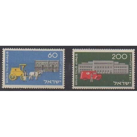Israël - 1954 - No 80/81 - Service postal
