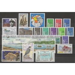 Saint-Pierre et Miquelon - Année complète - 1997 - No 641/662 - PA 76/PA77