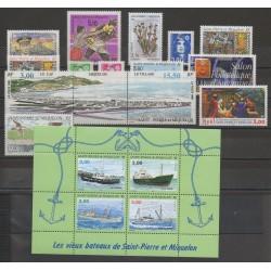 Saint-Pierre et Miquelon - Année complète - 1996 - No 624/640 - BF 5 - PA 75