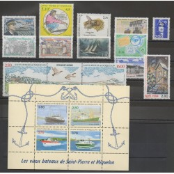 Saint-Pierre et Miquelon - Complete year - 1994 - Nb 592/608 - BF 4