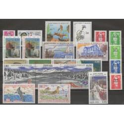Saint-Pierre et Miquelon - Année complète - 1993 - No 572/591 - PA72/ PA73