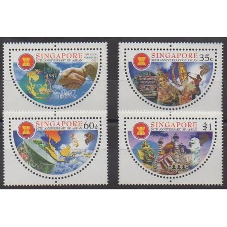 Singapore - 1997 - Nb 826/829 - Various Historics Themes