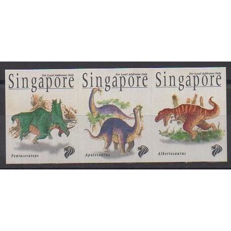 Singapore - 1998 - Nb 846/848 - Prehistoric animals