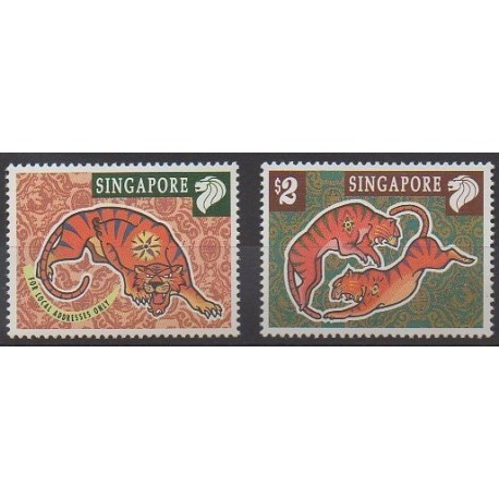 Singapore - 1998 - Nb 842/843 - Horoscope