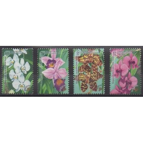 Singapour - 1998 - No 872/875 - Orchidées