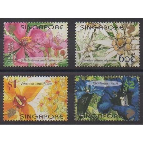 Singapour - 2001 - No 1018/1021 - Fleurs