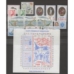 Saint-Pierre et Miquelon - Année complète - 1989 - No 497/512 - BF 3 - PA 68