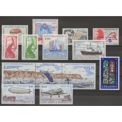 Saint-Pierre et Miquelon - Année complète - 1988 - No 486/496 - PA66/PA67