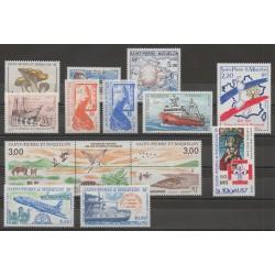 Saint-Pierre et Miquelon - Année complète - 1987 - No 475/485 - PA64/PA65