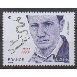 France - Poste - 2021 - No 5482 - Littérature - Charles Baudelaire