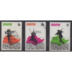 Singapore - 1970 - Nb 119/121 - Military history - Used